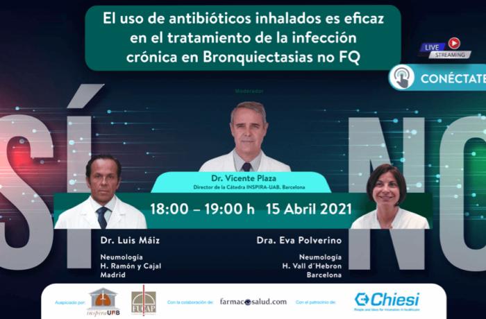 Los antibióticos inhalados en la infección crónica de las bronquiectasias no FQ es eficaz